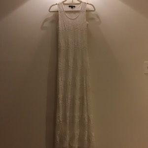 Lace ivory Maxi Dress Size 6